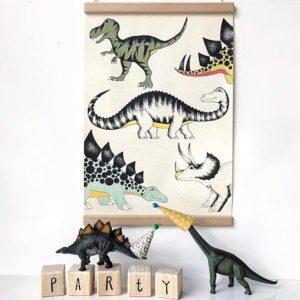 plakaty z dinozaurami DinoRaw
