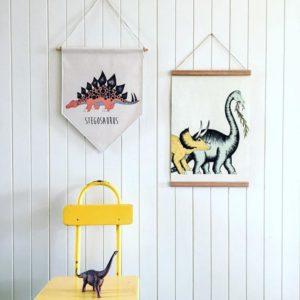 plakaty proporczyki dinozaury