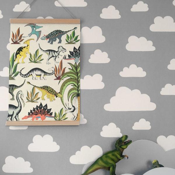 dekoracje ścienne dla dziecka plakat dinozaury