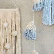 girlanda z chwostów bawełnianych